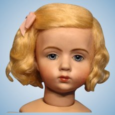 "Sweet Pale Blonde Mohair Wig for 10"" circumference head"