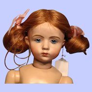 """Adorable Human Hair Strawberry Blonde Wig in 10"""" Circumference---Free shipping!"""
