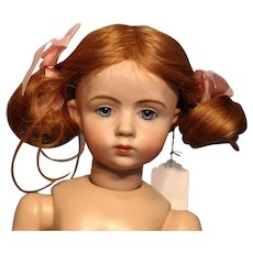"""Adorable Human Hair Strawberry Blonde Wig in 10"""" Circumference"""