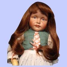 "Charming Human Hair Wig Medium Warm Brown in 11"" Circumference---Free shipping!"