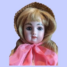 """French Closed Mouth Bebe """"M"""". Mystery Maker. Unusual Doll."""