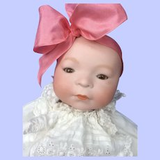 """14"""" Amberg Babe, 38"""" Antique Baby Gown"""
