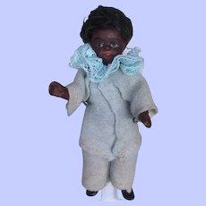 Black All Bisque Kestner or Kuhnlenz Dollhouse Doll