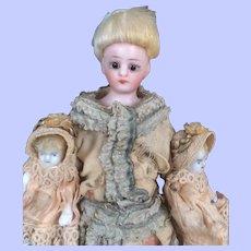 Simon Halbig Dollhouse Mother with Twin Babies