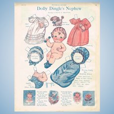 THREE (3) Uncut Pages of Vintage Dolly Dingle Paper Dolls!