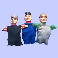 Wood Hand Carved Erzgebirge Puppets