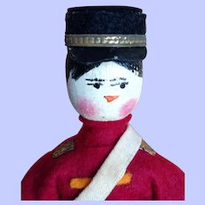 Wooden Grodnertal Soldier. Dollhouse size