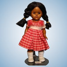 "Ginny-type 8"" Black Hard Plastic Doll"