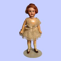 "8"" Armand Marseille 390 Flapper in original dress!"