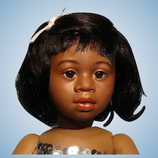 Bravot Marie-Annie human hair wig in dark brown or black--Bleuette size--Free shipping!