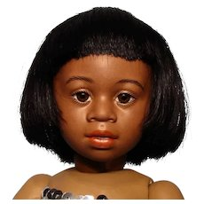 """Bravot Bleuette-sized """"Luc"""" wig in black....Free shipping!"""