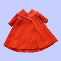 Vintage Cissy Red Felt Swing Coat---Tagged!