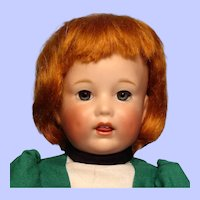 Carrot Red mohair wig from Bravot--Bleuette size---Free Shipping!