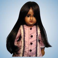 Black human hair wig without bangs--Bravot Bleuette-sized wig--Free shipping!