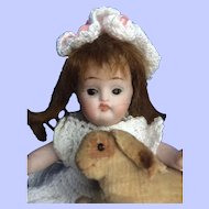"""Especially Darling All Bisque Doll. 4 3/4"""""""