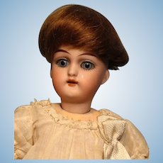 """Brown Mohair Mignonette Wig---3-7/8"""" circumference--Free shipping!"""