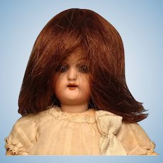 "Brown Human Hair Mignonette Wig---3-7/8"" circumference--Free shipping!"