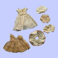 "Group of Madame Alexander Alexanderkins 8"" doll clothes"