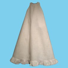 Nicely made vintage cotton underslip for doll christening outfit