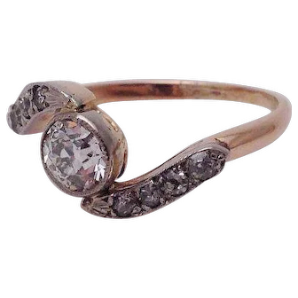 Victorian Bypass Style Diamond Ring