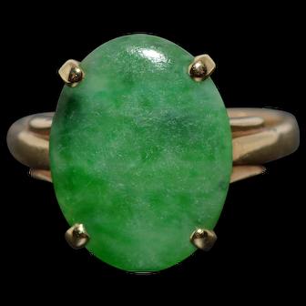Green Jade and Gold Ring