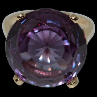 Big Beautiful Synthetic Alexandrite Ring