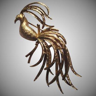 Exotic Bird Pin by Avon