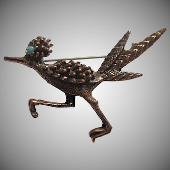 Copper Road Runner Pin