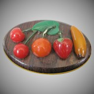 Bakelite Mixed Fruit Pin