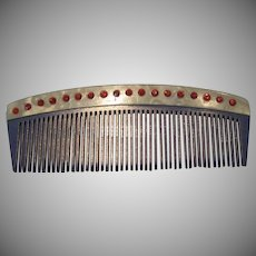 Celluloid RS Jeweled Comb