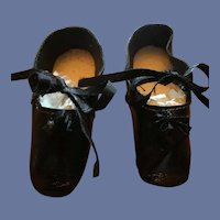 Black Leather Doll Shoes.