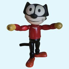 "Cameo Felix the Cat, Rubber Head and Wood Body.  8 1/2"" Tall"