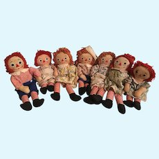 7 Raggedy Ann And Andy Dolls