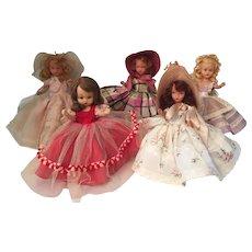Five Nancy Ann Storybook Dolls