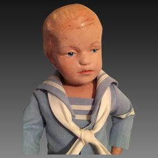 "14"" Schoenhut Carved Hair Boy Doll"