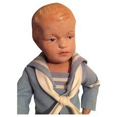 """14"""" Schoenhut Carved Hair Boy Doll"""