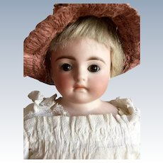 "16"" Kling Solid Dome Turned Shoulder Head Doll Marked 166"