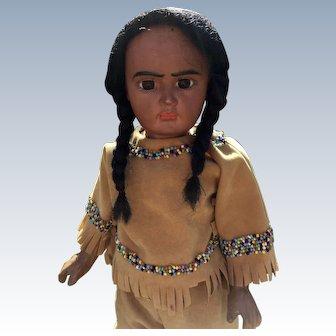 "Bahr & Proschild ""Scowling Native American 244  Doll 16"""