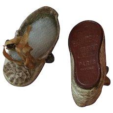 RARE All Original  E. Jumeau Doll Shoes Size 2