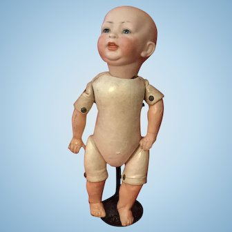 Adorable Hertel & Scwab Toddler with Rare Kid Body 13""