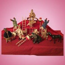 Schoenhut Humpty Dumpty Circus Clowns and Animals