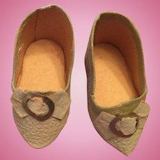 Blue French Fashion Doll Shoes