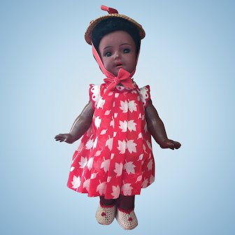 """8"""" Brown Complexioned K*R 126 Doll with Starfish Hands"""