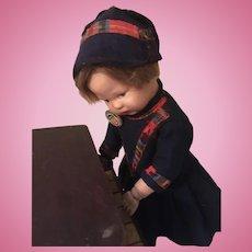 "11"" Schoenhut Doll with Schoenhut Piano"