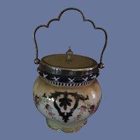 Antique Biscuit Jar by George Jones & Sons