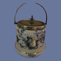 Antique W R Stoke on Trent Carltonware Biscuit Jar
