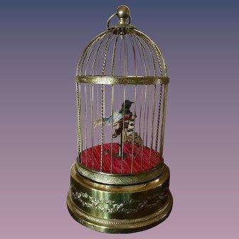 "French Bontems Musical Automaton Bird Cage 11"""