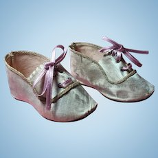 Champagne Colored Silk Doll Shoes Size 9