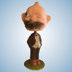 "German Glass Eye Foxy Winking  Grandpa Nodder/Bobblehead 8.5""-This item is 20% off for the month of July"
