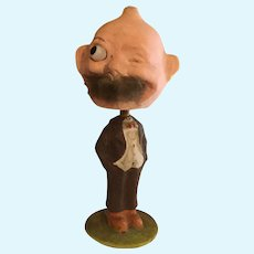 German Glass Eyed  Foxy Winking  Grandpa Nodder/Bobblehead 8.5""
